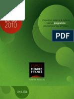 Programme de l'EMF de janvier à juin 2010