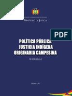 Política Pública Justicia Indígena Originaria Campesina. Propuesta Base.pdf