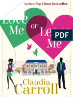 Love Me or Leave Me, Claudia Carroll - Chapter 1