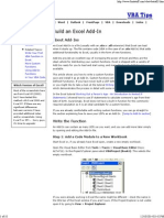 Build an Excel Add-In