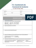 Cuestionario de Analisis Funcional de Conducta