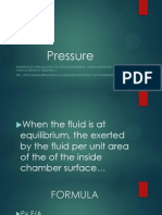 Pressure and its fotmulas