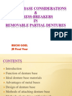 Denture Base and Stress Breaker in Rpd