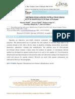 Conventional Method for Saponin Extraction From Chlorophytum Borivilianum Sant. Et Fernand