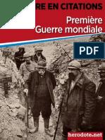 L'Histoire en Citations - La Première Guerre Mondiale