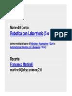 Lezione 1 di Robotica - Marinelli