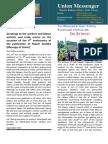 Union Messenger-No 4 - September 2014 A4 Sample 1