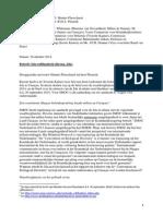 Brief Aan Minister Hennis en Minister Plasterk 10 Okt 2014