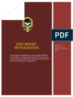 BPSU Report on Mutualisation September 2014