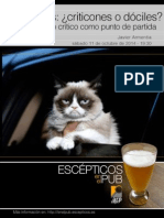 ¿Escépticos o Criticones? Javier Armentia en ESCÉPTICOS EN EL PUB / MADRID
