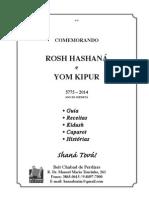 Apostila Rosh Hashaná e Yom Kipur - Ano 5775.pdf