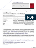 Accruals and the Performance of Stock Returns Following External Financing Activities