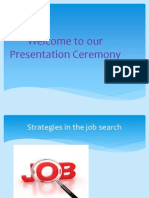 Strategies in the job search and mass communication