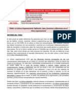Informe I - La Cultura Organizacional, concepto, tipos, funciones y diferencia con el clima organizacional.docx