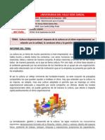 Informe III - Cultura Organizacional, Impacto de la cultura en el clima organizacional, su relación con la calidad, la conducta ética y la gestión de la cultura..docx