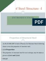 properties of structure steel as per limit state method IS 800:2007,mechanical properties of steel