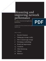 Measuring and Improving Network Performance -- an Analysis of Network and Application Research, Testing and Optimization