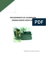 PROCEDIMIENTO DE CALIBRACION EN EL IONALIZADOR ORION 920A.doc