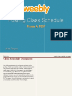 Weebly Class Schedule Document