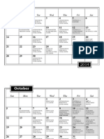 2014 fall band program calendar