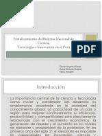 fortalecimieno del sistema nacional de Ciencia, Tecnología e Innovación en el Perú.ppt