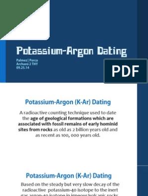 Kalium Argon dating