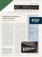 Digitalizing Psychotherapy and Psychoanalysis