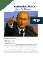 Tougher Sanctions Now Putin's Delusional Quest for Empire