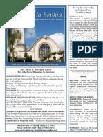 Santa Sophia Bulletin for October 05, 2014