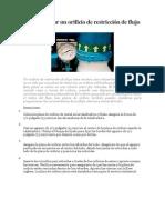 Cómo instalar un orificio de restricción de flujo.docx