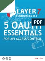 5 OAuth Essentials for API Access Control