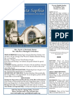 Santa Sophia Bulletin for October 12, 2014