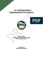 792352 Antidegradation Implementation Procedures Draft 0112