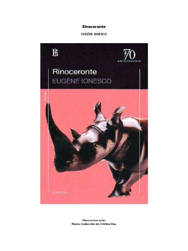 el rinoceronte ionesco pdf