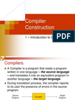 Compiler Construction - 01