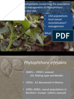 Recent developments concerning the population biology and managment of Phytophthora infestans in the USA