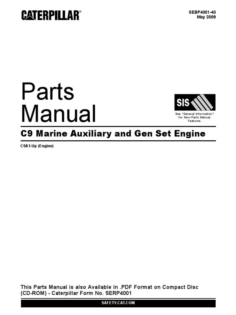 CATERPILLAR C9 SPARE PARTS MANUAL | Cylinder (Engine) | Vehicles