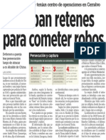 12-10-2014 Armaban retenes para cometer robos