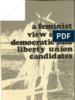 A Feminist View of the Democratic and Liberty Union Candidates | Chittenden Magazine | Sept. 1972