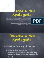 Towards a New Apologetic Part One