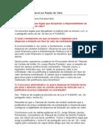 Dispensa Licitação em Razão do Valor.doc
