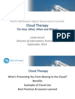 Pacific Northwest DGS presentation - Cloud Therapy L Gerull