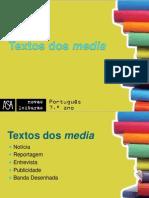 OS TEXTOS DOS MEDIA.ppt