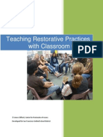 teaching restorative practices in the classroom 7 lesson curriculum