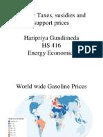 Energy Taxes and Subsidies