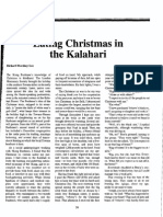 Lee Eating Christmas in the Kalahari (1)
