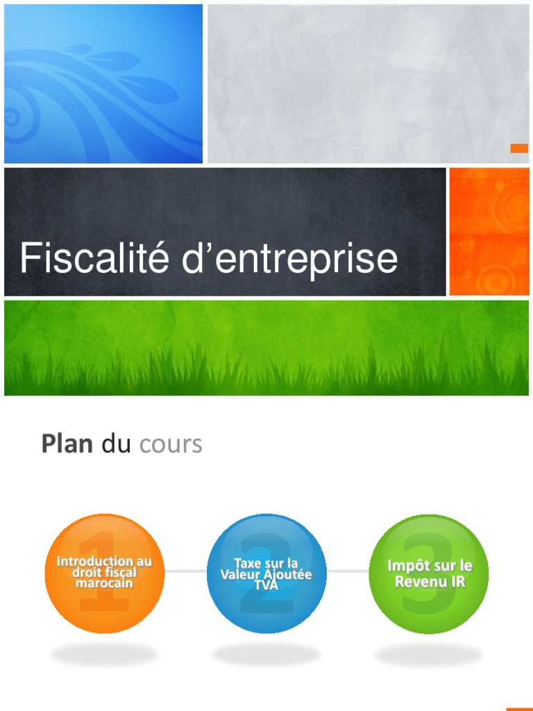 Cours Fiscalite Pptx