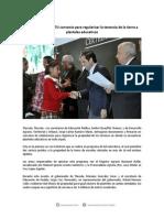 13-10-14 042 BOLETÍN Firman SEP y SEDATU Convenio Para Regularizar La Tenencia de La Tierra a Planteles Educativos
