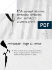 Efek Agregat Alumina Terhadap Performa Dari Refraktori