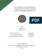 Jurnal Awal Prak.anfar II - Penetapan Kadar Asam Oleat Dengan GC-FID